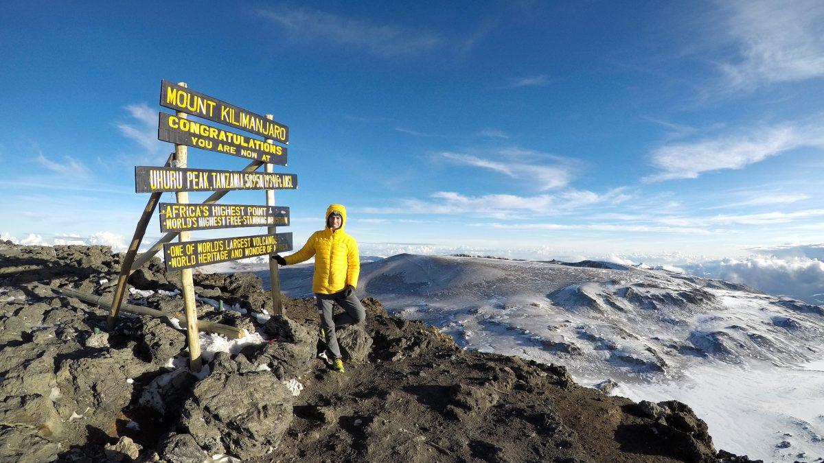 Hervè Barmasse sul Kilimangiaro