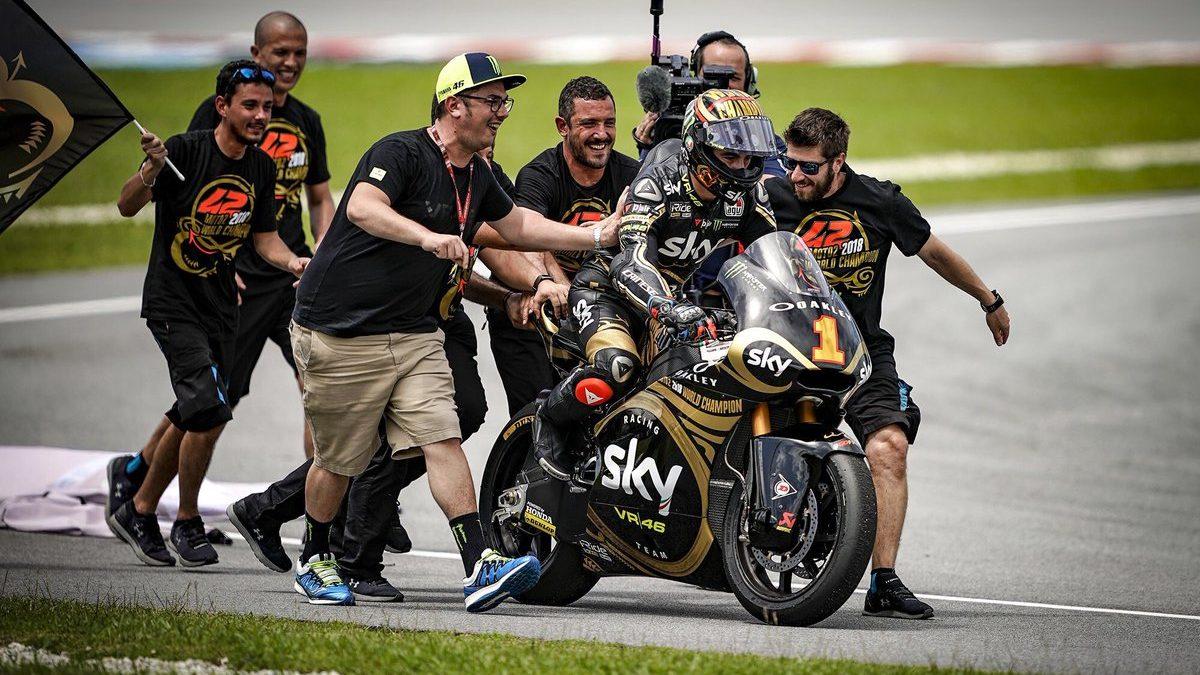 Moto2, Bagnaia campione del mondo: «Non ho vinto da solo»