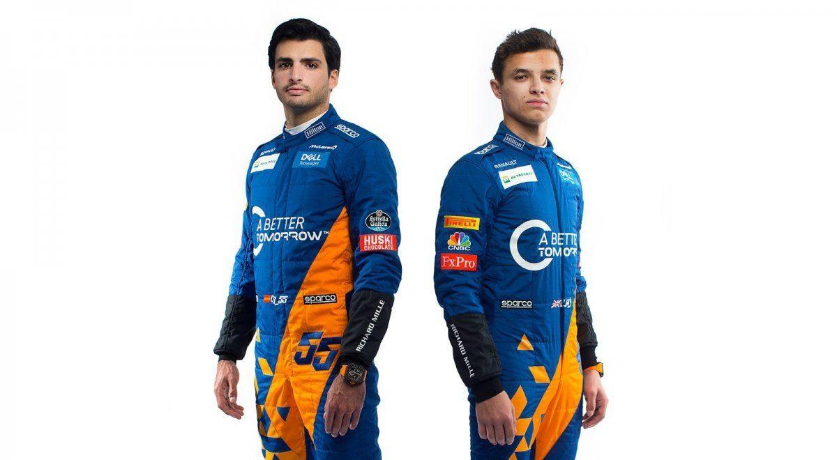 Test Barcellona F1: Sainz, Norris e il clima in McLaren
